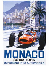 Grand Prix Monaco 30 Mai 1965 poster print by  Unknown