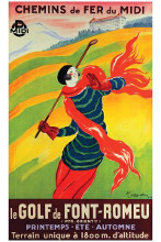Font Romeu Le Golf poster print by Leonetto Cappiello