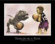 Toddler on a Tear poster print by Harrison Woods