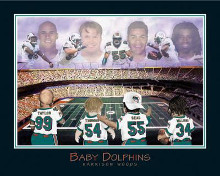 Baby Dolphins-Williams, Seau, Thomas T poster print by  Little Pro's