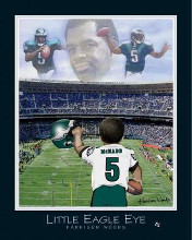Little Eagle Eye-Donovan Mcnabb poster print by  Little Pro's