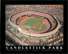 Candlestick Park-Final Day 1999 poster print by Mike Smith