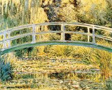 Monet - Waterlily Pond poster print by Claude Monet