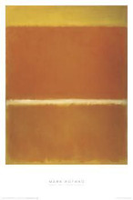 saffron poster print by mark rothko