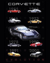 Corvette Evolution poster print by  Unknown