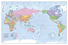 World Map - Australia Centralised poster print by  Novelty
