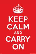 Keep Calm and Carry On poster print by  Novelty