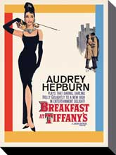 Hepburn Breakfast at Tiffany's poster print by  Canvas Collection