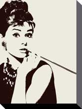 Hepburn Cigarillo poster print by  Canvas Collection