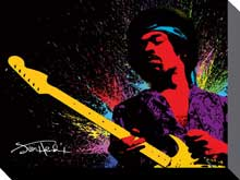 Hendrix Paint poster print by  Canvas Collection