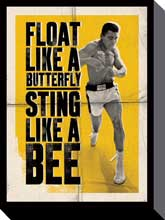 Ali Float Like a Butterfly poster print