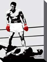 Ali Gloves poster print by  Canvas Collection
