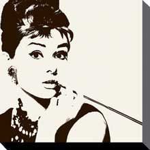 Audrey Hepburn Cigarillo poster print by  Canvas Collection