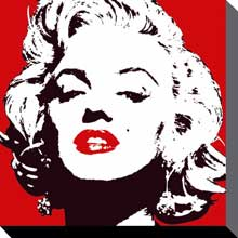 Marilyn Monroe Red poster print by  Canvas Collection