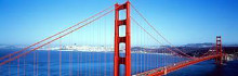 Sf Golden Gate Bridge poster print by  Panoramic Images