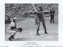 Fidel At Bat poster print by  Unknown