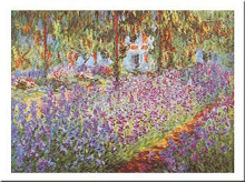 Garden at Giverny poster print