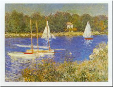 Bassin At Argenteuil poster print by Claude Monet