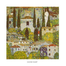 Church At Cassone on Garda poster print by Gustav Klimt