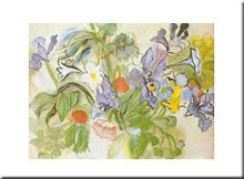Coquelicots Et Iris poster print by Raoul Dufy