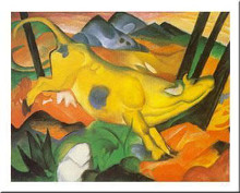 Gelbe Kum poster print by Franz Marc