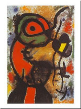 Personnage Et Oiseau poster print by Joan Miro