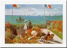 Balcony on the Sea, Stadresse poster print by Claude Monet