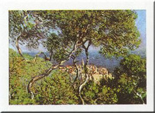 Landscape At Bordighera poster print by Claude Monet