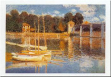 Boats At Argenteuil poster print by Claude Monet