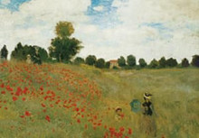 Poppies poster print by Claude Monet