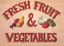 Fruit And Veg Sign poster print by Michaels Madison