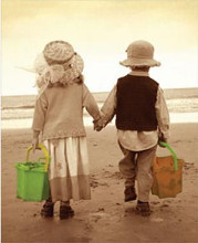 Beach Stroll poster print by Photography Tom N Ellie