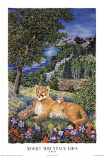 Colorado Mountain Lion poster print by Janet Law