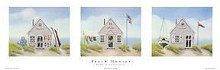 Beach Houses poster print by Karyn Frances Gray