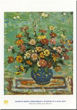 Flowers in a Blue Vase poster print
