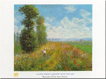 Meadow with Poplars poster print by Claude Monet