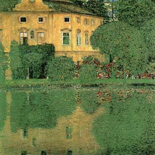 Kammer on Attersee poster print by Gustav Klimt