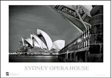 Sydney Opera House 8 poster print by Jack Atley