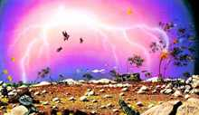 Lightning Ridge and Pigs Can Fly poster print