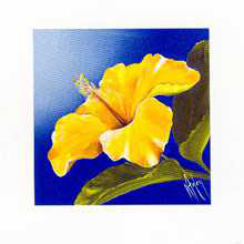 Golden Sunset - Hibiscus poster print by Karen Foley