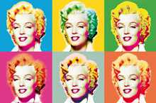Visions of Marilyn poster print by Andy Warhol