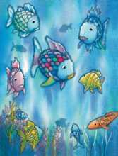 The Rainbow Fish poster print by  Mural