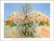Dead Tree with Pink Hill poster print by Georgia O'Keeffe