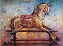 Rocking Horse I poster print by Les Miles