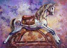 Rocking Horse III poster print by Les Miles