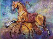 Rocking Horse IV poster print by Les Miles