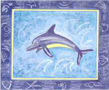 Dolphin I poster print by Les Miles