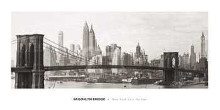 Brooklyn Bridge poster print by  Unknown