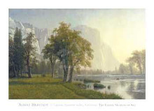 El Capitan, Yosemite Valley, California, poster print by Albert Bierstadt