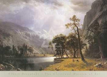 Half Dome, Yosemite Valley poster print by Albert Bierstadt